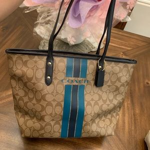 NWT Coach Signature logo Tote Shoulder Bag Handbag